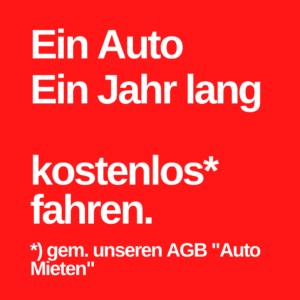 Auto Probefahrt Wettbewerbspreis gratis Auto